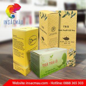 In hộp trà giá rẻ