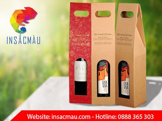 in hộp giấy đựng rượu giá rẻ