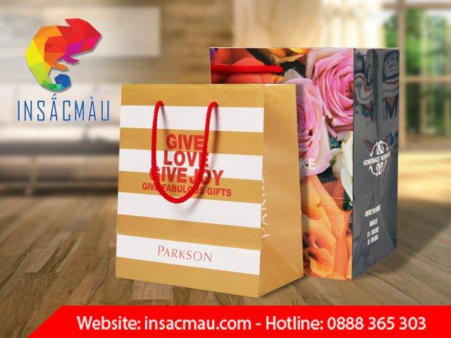 in túi giấy cho shop thời trang đẹp giá rẻ tại hcm