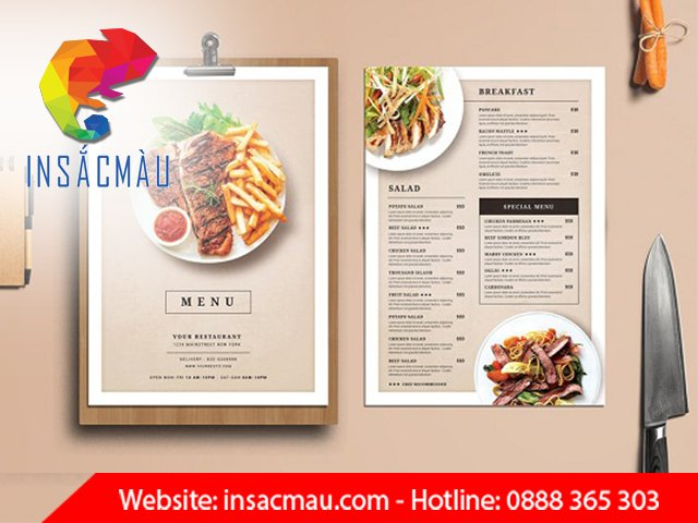 in ấn menu đẹp