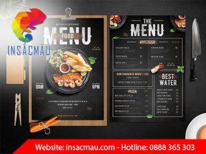 in menu chuyên nghiệp hcm