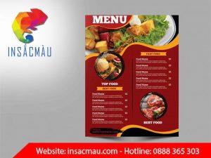 in menu đẹp giá rẻ