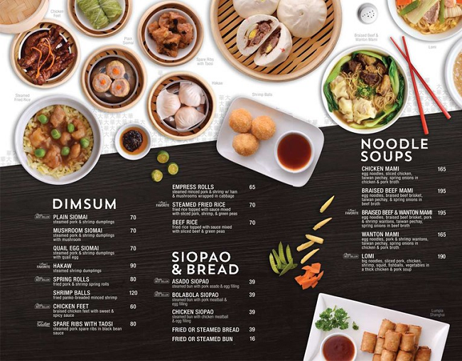 in menu nhà hàng tại tphcm