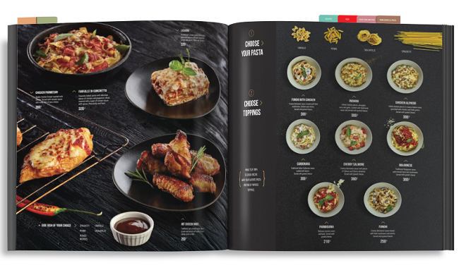 in menu nhà hàng tại in sắc màu