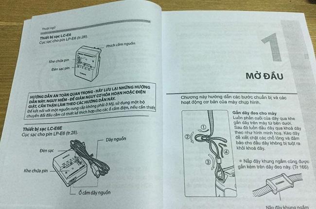 in sách hướng dẫn