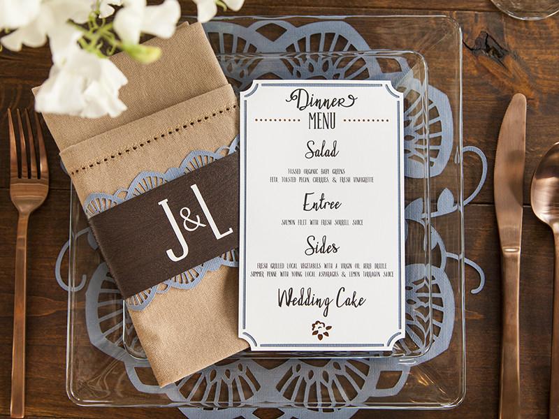 in menu nhà hàng tiệc cưới