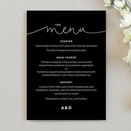 mẫu menu nhà hàng chất lượng cao