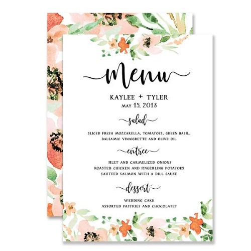 mẫu menu nhà hàng thu hút