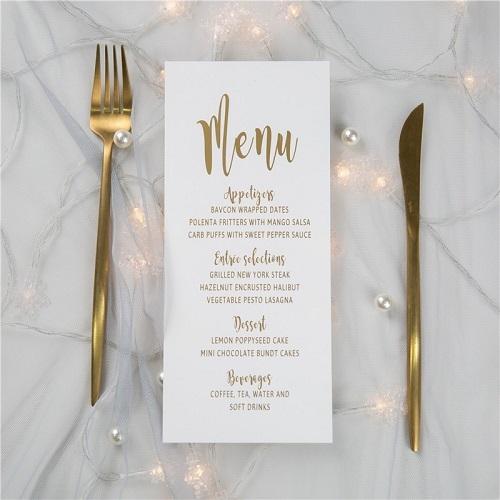 mẫu thực đơn nhà hàng tinh tế