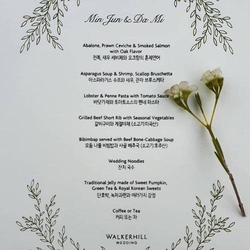 mẫu menu nhà hàng tiệc cưới lấy liền