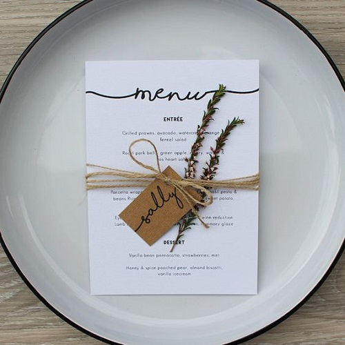 mẫu thực đơn nhà hàng sang trọng