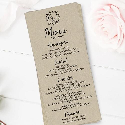 mẫu menu nhà hàng đẹp giá rẻ