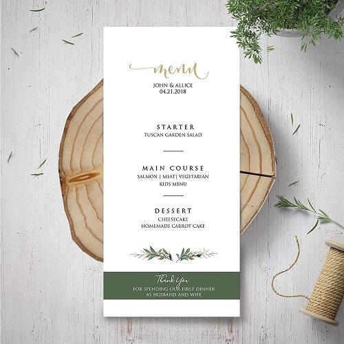 mẫu menu nhà hàng tinh tế