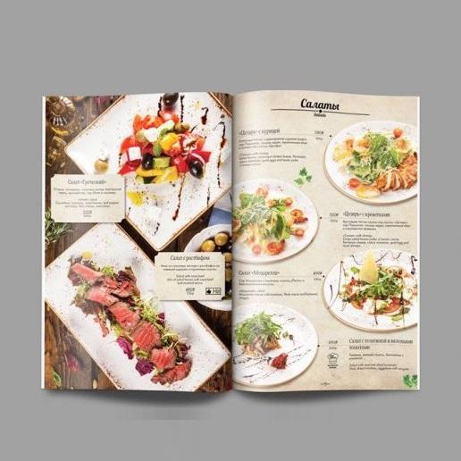 mẫu menu quán ăn chất lượng cao