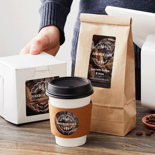 mẫu tem dán cà phê