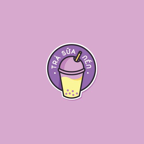 mẫu tem dán cho quán trà sữa
