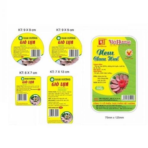mẫu tem dán sản phẩm tiêu dùng chất lượng