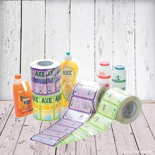 mẫu tem dán sản phẩm tiêu dùng đẹp