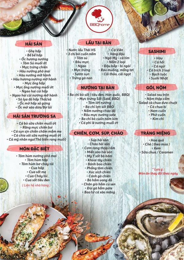 mẫu menu quán ăn giá rẻ