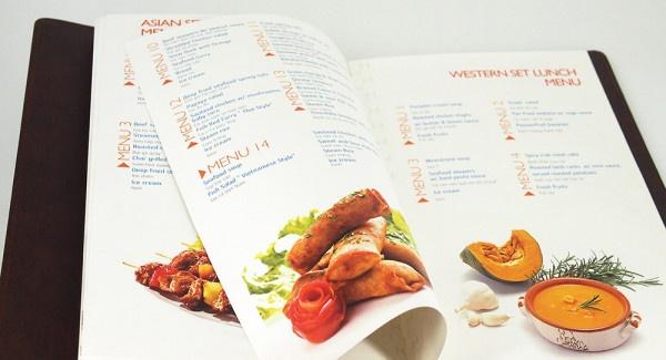 những mẫu menu quán ăn chất lượng