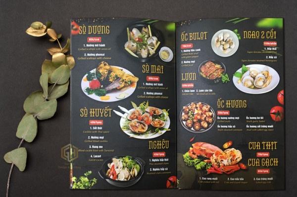 những mẫu menu quán ăn lấy liền