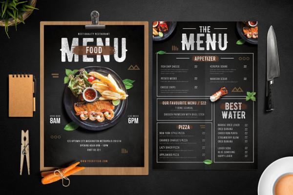 menu quán nhậu đẹp giá rẻ