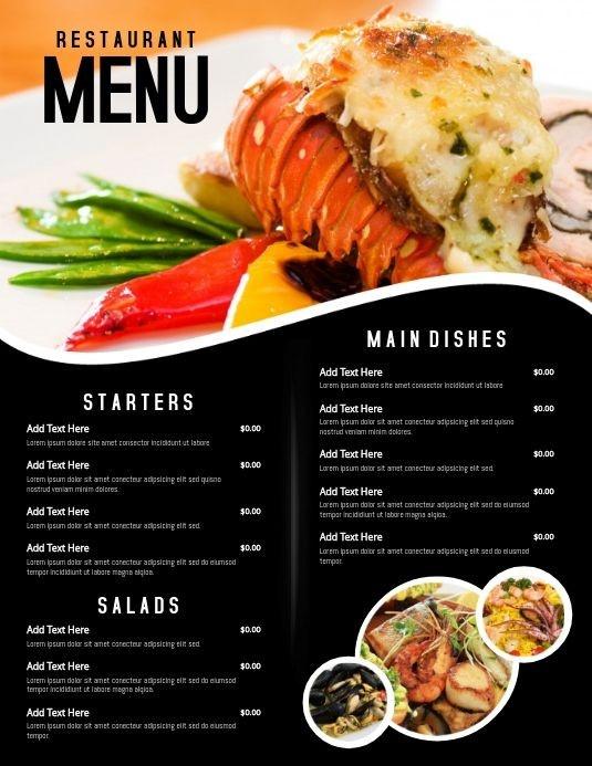 menu quán nhậu đẹp thu hút