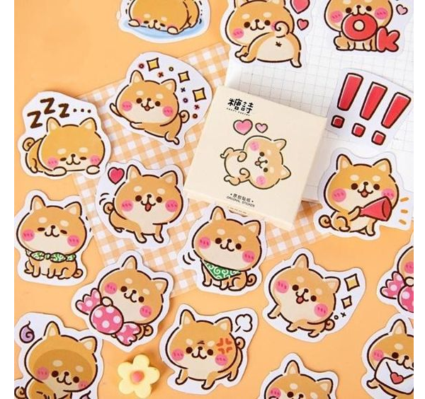 mẫu sticker cute động vật