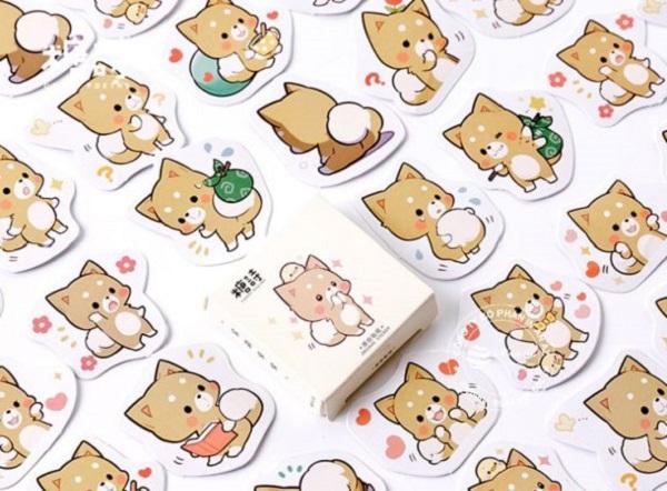 mẫu sticker cute dễ thương