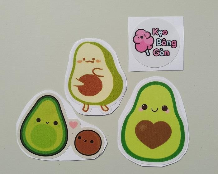 in ấn các mẫu sticker cute