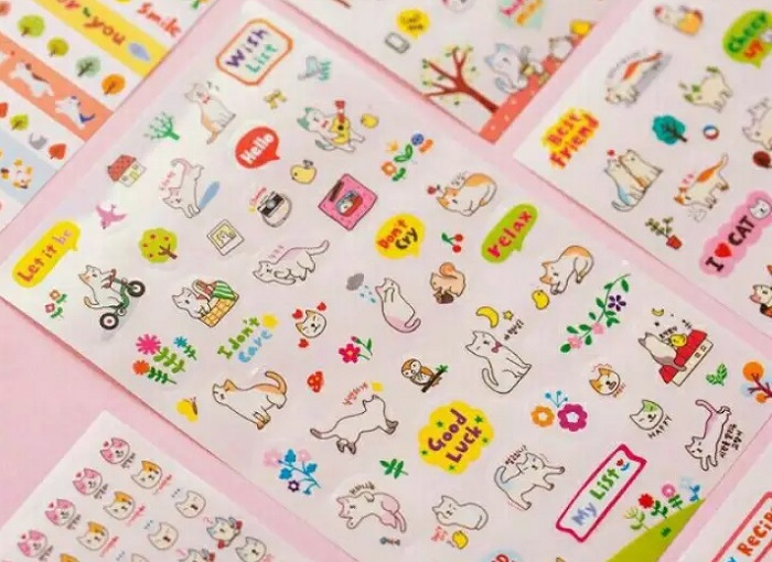mẫu sticker cute hcm