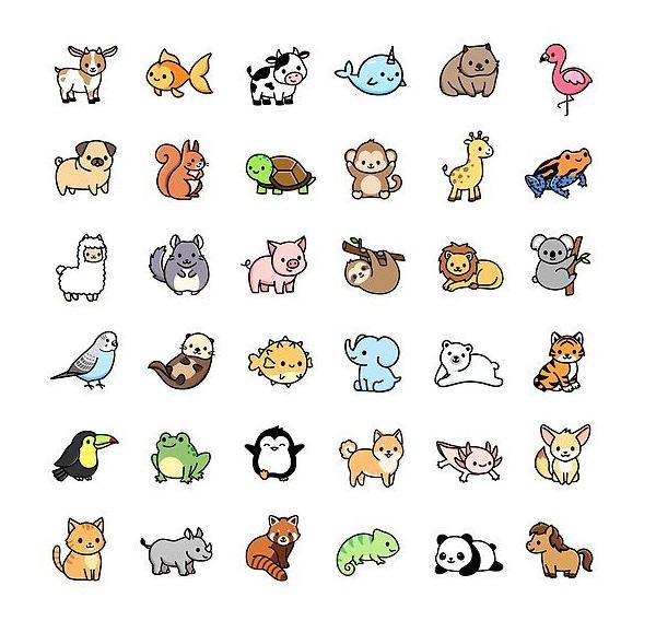 mẫu sticker dễ thương động vật