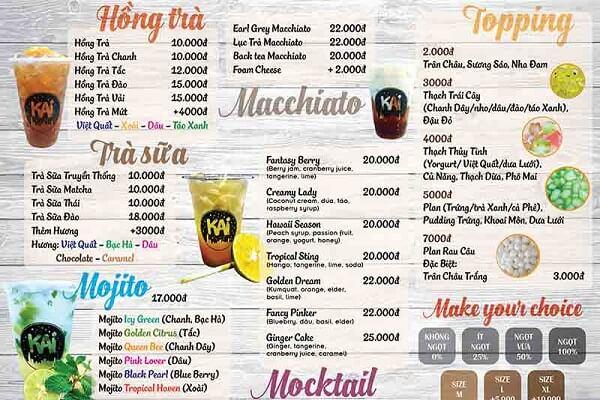 mẫu menu trà sữa hcm