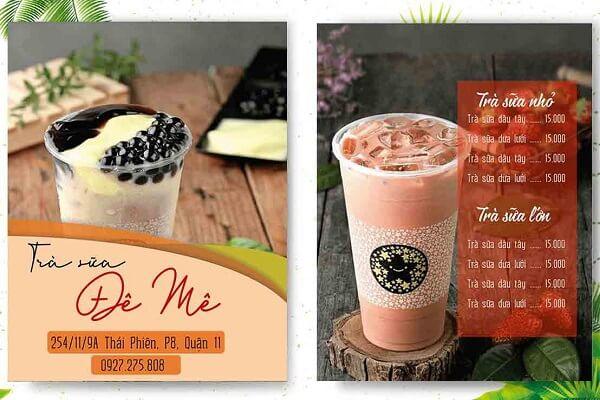 mẫu menu trà sữa giá rẻ