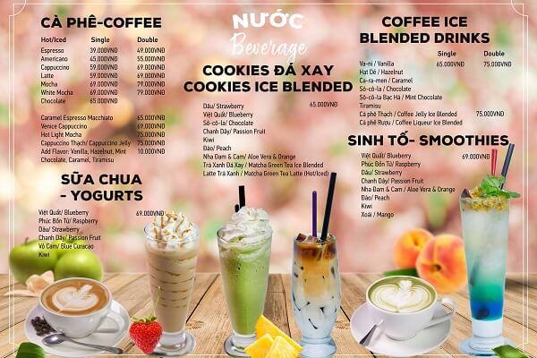 mẫu menu trà sữa đẹp in sắc màu