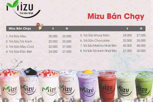mẫu menu trà sữa giá rẻ tại in sắc màu