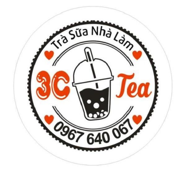 mẫu tem dán ly trà sữa đẹp