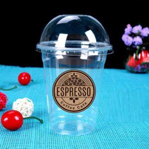 In logo dán ly nhựa cà phê