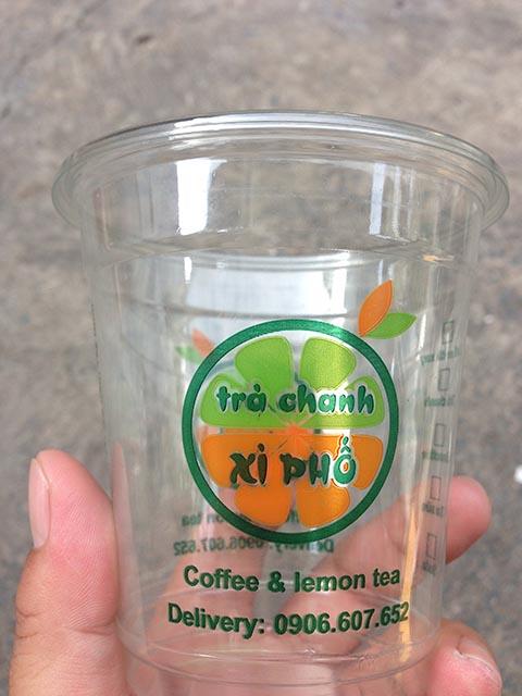 In logo dán ly nhựa nước ép