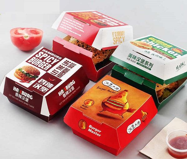 hộp giấy đựng thức ăn hamburger
