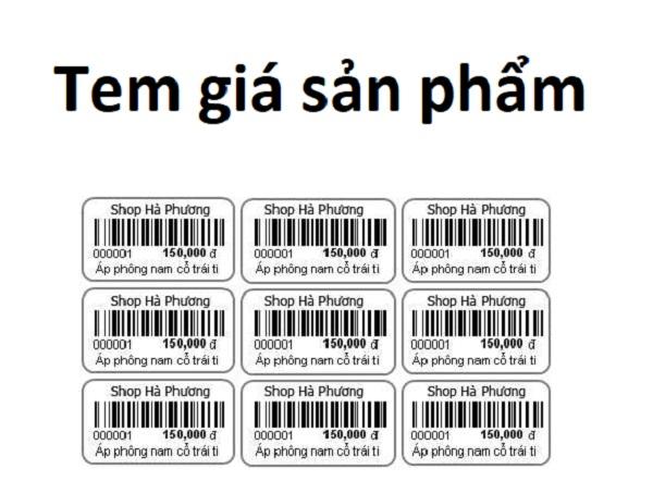 Tem giá sản phẩm