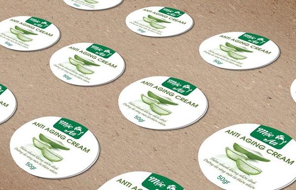Những chất liệu thường được dùng để in tem dán