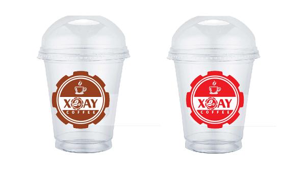 logo dán ly cà phê