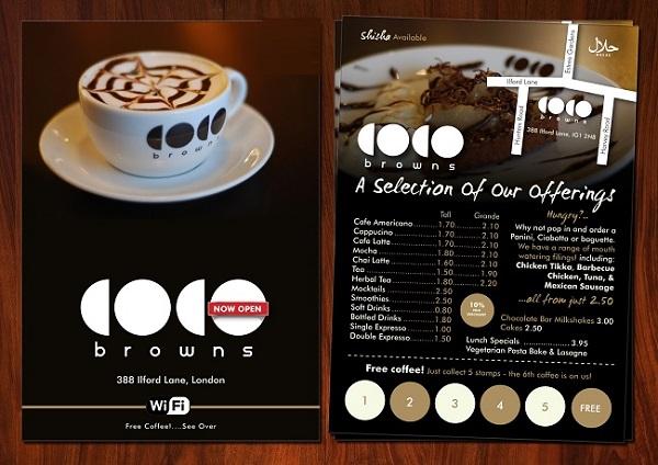 mẫu menu quán cà phê tại hcm