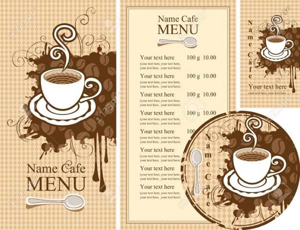 mẫu menu quán cafe lấy ngay