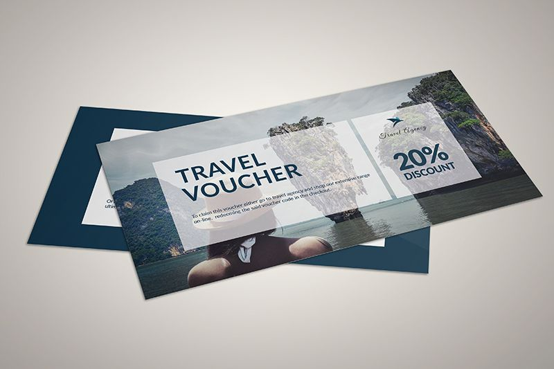 Mẫu voucher đẹp thu hút cho ngành du lịch