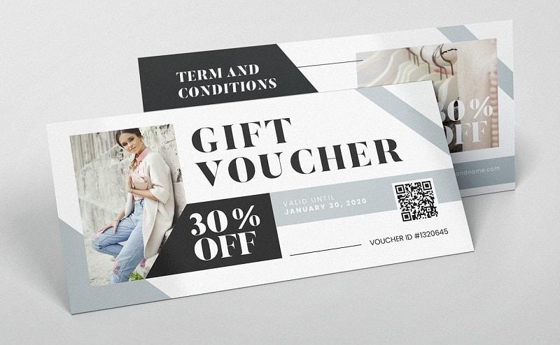 Mẫu voucher đẹp cho ngành thời trang thu hút