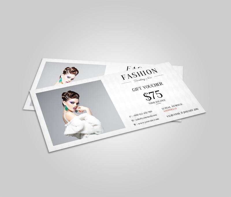 Mẫu voucher đẹp cho ngành thời trang