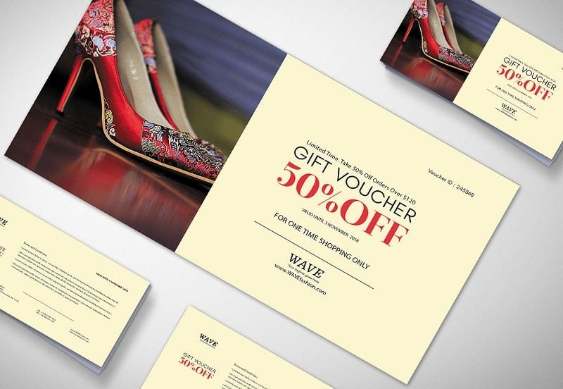 Mẫu voucher đẹp chất lượng cho ngành thời trang