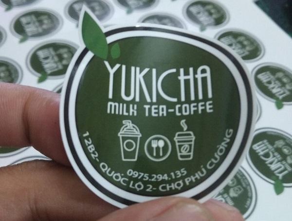 In tem dán ly trà sữa chất lượng